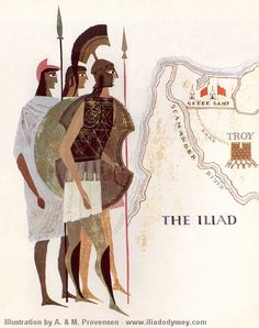 Book II I will tell of the lords of the ships.[Alice and Martin Provensen Iliad] People Illustration, Children's Book Illustration, Character Illustration, Alice Martin, Homer Iliad, Classic Books, Ancient Greece, Modern Graphic Design, Poses