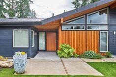 Modern home design – Home Decor Interior Designs Modern Entry, Modern Exterior, Exterior Design, Mid-century Modern, Exterior Colors, Modern Garage, Danish Modern, Contemporary, Ranch Exterior