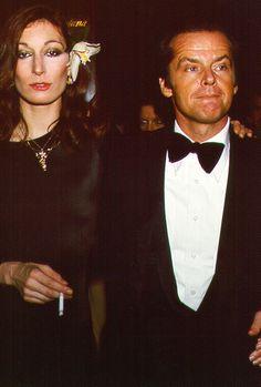 Anjelica Huston & Jack Nicholson, 1974.