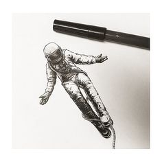 : astronaut 우주인 스케치 #tattooistbanul #tattoo #astronaut #cosmonaut #galaxy…