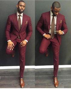 Mens Suits 2018 Custom Made Burgundy Casual Men Suits Slim Fit Groom Groomsman Blazer #MensFashionIdeas