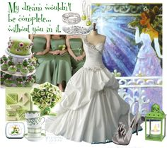 """Princess Tiana Wedding Dress"" by carolina-watts on Polyvore"