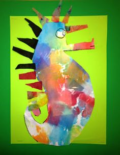 Eric Carle - Mr. Seahorse Inspired Art