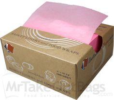 "STRAWBERRY PINK 6 X 10-3/4"" Lightweight Bakery Pick-up Tissue (10000 / case)"
