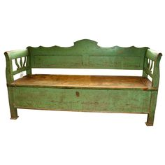 19th Century French Wooden Bench or Trunk....I had one just like this in my store and sold it....