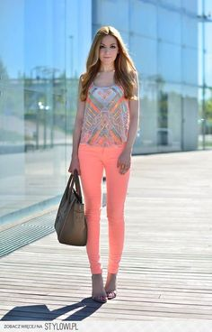 Love these #coral #pants!