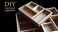 DIY How to make a Two-level cardboard drawer organizer HD (corrugated cardboard furniture) Cardboard Drawers, Cardboard Organizer, Diy Cardboard Furniture, Cardboard Design, Diy Drawers, Cardboard Paper, Cardboard Crafts, Diy Furniture, Diy Desktop Organizer