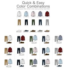 Colour Combinations Fashion, Color Combinations For Clothes, Color Combos, Men Style Tips, Mens Style Guide, Mode Outfits, Dress Outfits, Mens Clothing Styles, Men's Clothing