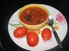 Tangy Tomato Soup in Indian Style.   http://secretindianrecipe.com/recipe/tangy-tomato-soup-indian-style > #foodporn #yummy #sweet #dinner #lunch #breakfast #fresh #tasty #delish #delicious #eating #foodpic #foodpics #eat #hungry #foods