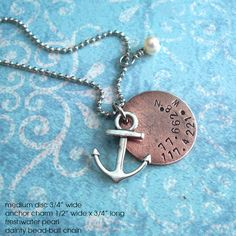 Sail Away With Me . GPS Latitude Longitude by TipsyWhimsey on Etsy, $22.00 This store is perfect. I can't wait for my custom one to come!