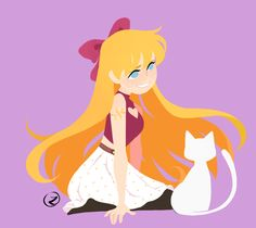 """zdoodlez: """"A sailor and her kitty """" Sailor Moon, Sailor Venus, I Love Anime, Me Me Me Anime, Moon Names, Game Character, Moonlight, Disney Characters, Fictional Characters"""