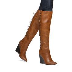 New Brown Thigh High Lace Up Boots Peep Toe Stiletto Heel Womens Shoes 6 - 11 #Other #OverKneeBoots