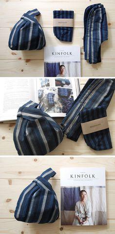 Matsusaka Indigo Dyeing bags with Kinfolk magazine #kinfolk #Japanese Indigo Dyeing
