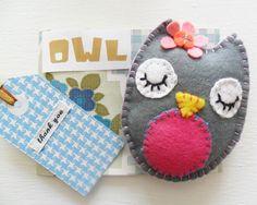Felt Owl - Thank you Pack. $10.00, via Etsy.