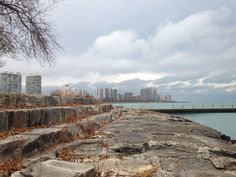 Foster Ave Beach, Chicago (Dot Lane 2014). Elder lime stone. Built in the early 40's??