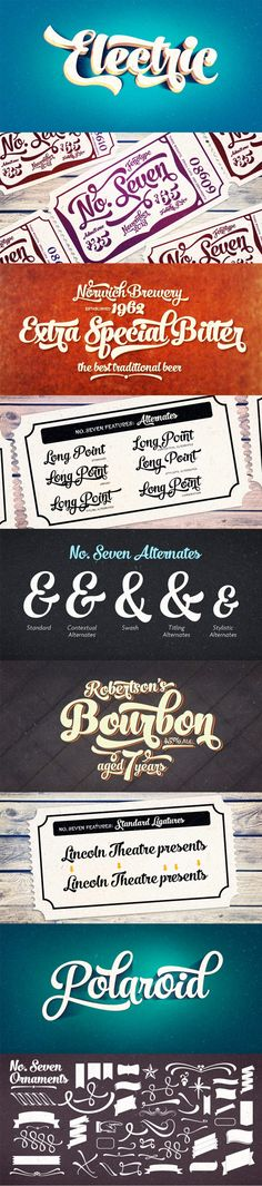 No. 7 Font by Fenotype | 21 Best Selling Beautiful Fonts Bundle Jan 15