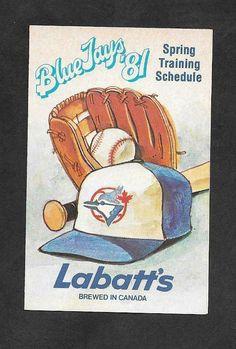 1981 TORONTO BLUE JAYS SPRING TRAINING BASEBALL POCKET SCHEDULE Canada, Spring Training, Toronto Blue Jays, Schedule, Mlb, Pocket, Baseball Cards, Sports, Ebay