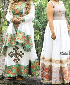 Ethiopian Traditional Dress, Habesha Kemis, Ethiopian Wedding, Ethiopian Dress, Traditional Clothes, Bubble, Clothing, Skirts, How To Wear