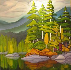 ideas landscape art projects galleries for 2019 Nature Artwork, Nature Paintings, Art Paintings, Landscape Art, Landscape Paintings, Landscape Photos, Henri Rousseau, Guache, Naive Art