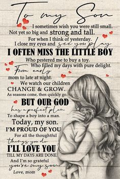 Son Quotes From Mom, Mother Son Quotes, My Children Quotes, Mommy Quotes, Daughter Quotes, Quotes For Kids, Family Quotes, Cute Quotes, Quotes To Live By