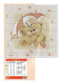 Cross-stitch Bears in Love Cross Stitch Pictures, Cross Stitch Heart, Cute Cross Stitch, Cross Stitch Animals, Wedding Cross Stitch Patterns, Cross Stitch Designs, Cross Stitching, Cross Stitch Embroidery, Crochet Cross