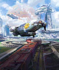 Spaceship environment by John Wallin LIberto