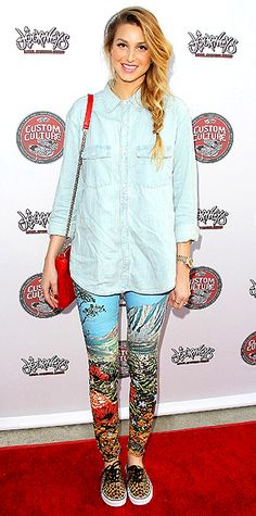 Whitney Port red carpet- mixed prints, love it!