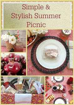 Summer Picnic - simple & stylish - sandwiches wrapped in wax paper & twine, fresh berries.  The pleasure of relaxing on a beautiful day.  Come see how easy it is to make a lovely setting for your next picnic.