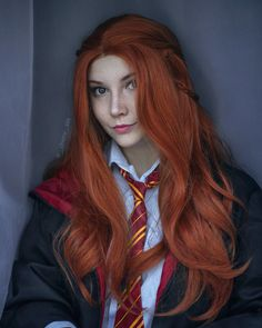 Ginny Weasley from Harry Potter cosplay by The Puddins' Ginny Weasley, Cool Costumes, Cosplay Costumes, Cosplay Ideas, Red Hair Cosplay, Harry Potter Cosplay, Amazing Cosplay, Book Week, Geek Girls