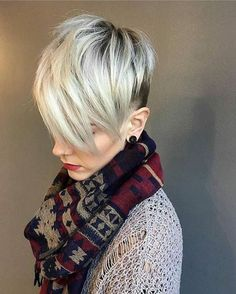 Pixie haircuts for 2018 blonde undercut pixie, blonde pixie cuts, short . Platinum Blonde Pixie, Pixie Cut Blond, Blonde Pixie Hair, Short Blonde Pixie, Short Hair With Bangs, Short Hair Styles Easy, Short Pixie Haircuts, Long Hair Cuts, Hairstyles With Bangs