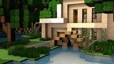 Modern Minecraft Home Render