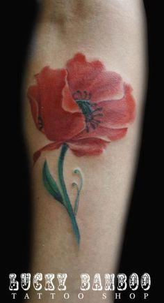 Lucky Bamboo Tattoo : Tattoos : Robert Mcneill : Poppy Flower Tattoo