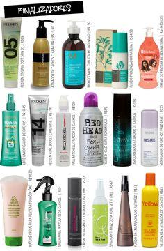 Finalizadores! Produtos para cabelos cacheados! Preferidos das leitoras.