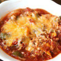 Crockpot Zucchini Chicken Parmesan