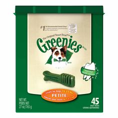 Greenies Dental Treats for Dogs Petite (my Havanese's size) ~ This 27 oz. bag is regularly-priced at $39.99.