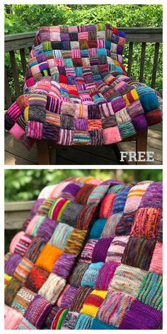 The Beekeeper's Quilt Blanket Knitting Pattern Free & Paid - Knitting Pattern Baby Knitting Patterns, Knitting Stitches, Knitting Yarn, Free Knitting, Knitted Afghans, Knitted Blankets, Puff Quilt, Patchwork Blanket, Knit Blanket Squares