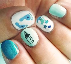 Try some of these designs and give your nails a quick makeover, gallery of unique nail art designs for any season. The best images and creative ideas for your nails. Best Nail Art Designs, Toe Nail Designs, Beautiful Nail Designs, Baby Shower Nails, Baby Nails, Easy Nail Art, Cool Nail Art, Bright Summer Nails, Summer Toenails
