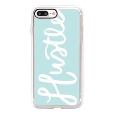 Handwritten Hustle (Mint) - iPhone 7 Case, iPhone 7 Plus Case, iPhone... (285 HRK) ❤ liked on Polyvore featuring accessories, tech accessories, iphone case, mint iphone case, mint green iphone case, iphone cases, slim iphone case and iphone cover case