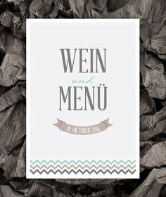 WeddingEve by Hüfner Design Design: Zig Zag Save the Date Karte, Einladungskarte, Menükarte, Tischkarte, Danksagungskarte, Buttons