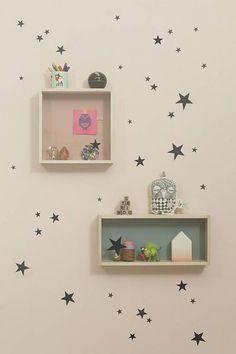 Ferm Living Muursticker mini sterren Wall Stickers - Mini Stars zwart
