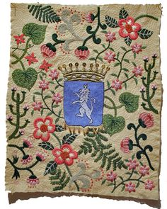 HP ライオンと花.jpg Gorgeous embroidery by Yumiko Higuchi. Wow.