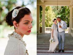 Wedding Looks Day Striped Pride And Prejudice Inspiration Bride Jane Austen Sage