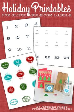 How to Make Personalized Holiday Gifts with Labels | Hydrangea Hippo by Jennifer Priest