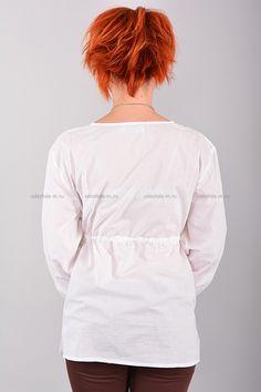 Рубаха В0350  Цена: 280 руб  Размеры: 42-50    Женская рубаха выполнена из легкого материала.  Модель с длинными рукавами, дополнено кулиской на талии.  Рост модели на фото: 156 см.  Состав: 100 % хлопок.     http://odezhda-m.ru/products/rubaha-v0350     #одежда #женщинам #блузкирубашки #одеждамаркет