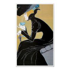 Vintage Art Nouveau Poster by vintagedesigns