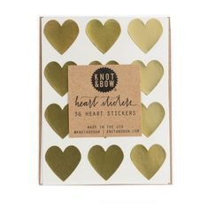 Gold Heart Stickers – Lucky Lulu Party Shop
