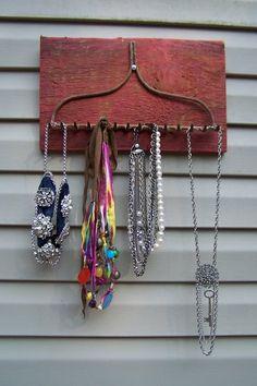 Rustic jewelry rack- DONE!