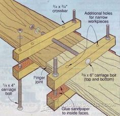 DIY Panel Clamps - Panel Glue Up Tips, Jigs and Techniques | WoodArchivist.com