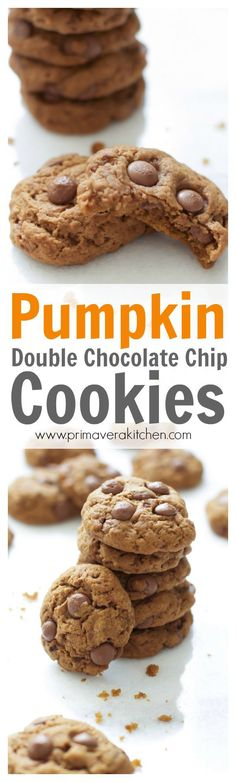 Double Chocolate Chip Cookies - An easy Pumpkin Double Chocolate ...