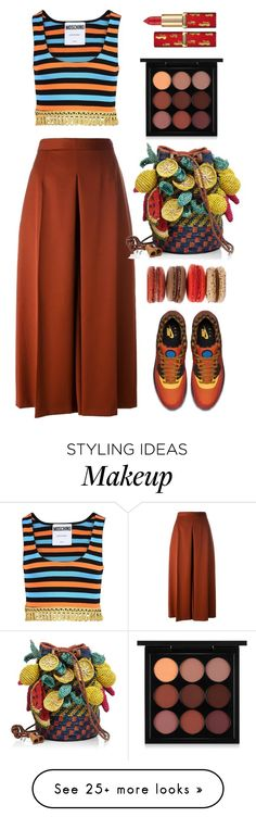 """""""Moschino"""" by thestyleartisan on Polyvore featuring Moschino, NIKE, Alexander McQueen, Jamin Puech and MAC Cosmetics"""